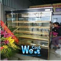 Tủ trưng bày bánh kem kính vuông 5 tầng